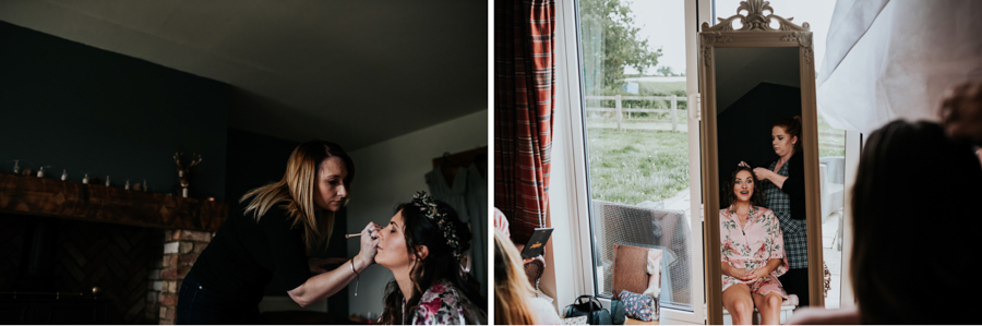 REAL WEDDING - Emily and Ashley's Rustic DIY Leicestershire Wedding, Captured by Jenny Appleton Photography - hair and make-up