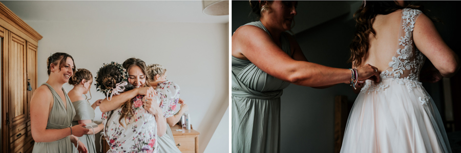 REAL WEDDING - Emily and Ashley's Rustic DIY Leicestershire Wedding, Captured by Jenny Appleton Photography - bridesmaids