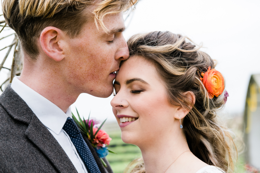 INSPIRATION - A Vibrant Ethnic-Inspired Wedding From Tide Flowers, Captured By Verity Westcott At GREEN UNION Venue Partner, Mount Pleasant Eco Park, Cornwall - Hannah Symons MUA