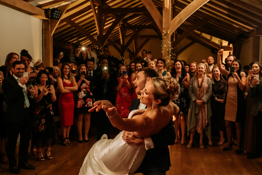 REAL WEDDING - The Simply Beautiful Spring Wedding of Hannah and Phil at Dodford Manor, Captured By GREEN UNION Partner, Ed Brown Photography - the first dance