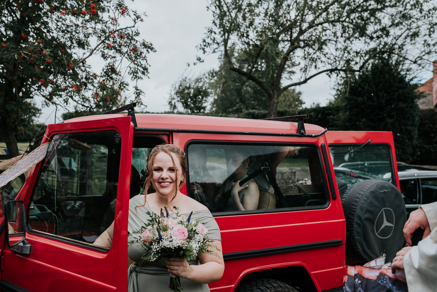 REAL WEDDING - Emily and Ashley's Rustic DIY Leicestershire Wedding, Captured by Jenny Appleton Photography - wedding transportation
