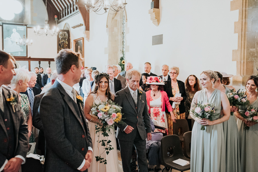 REAL WEDDING - Emily and Ashley's Rustic DIY Leicestershire Wedding, Captured by Jenny Appleton Photography - wedding ceremony
