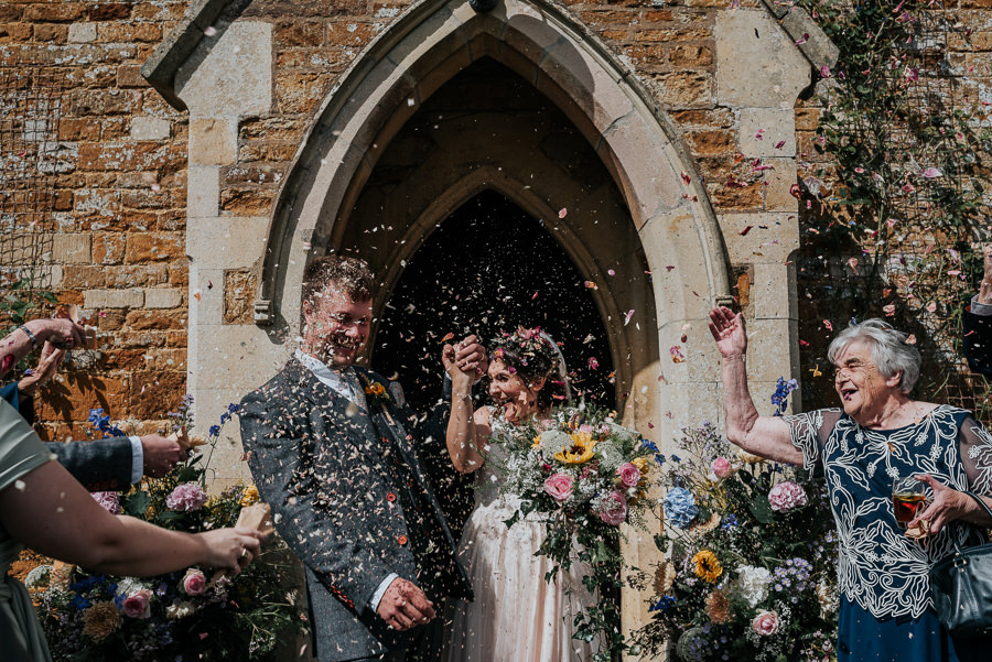 REAL WEDDING - Emily and Ashley's Rustic DIY Leicestershire Wedding, Captured by Jenny Appleton Photography - confetti shot
