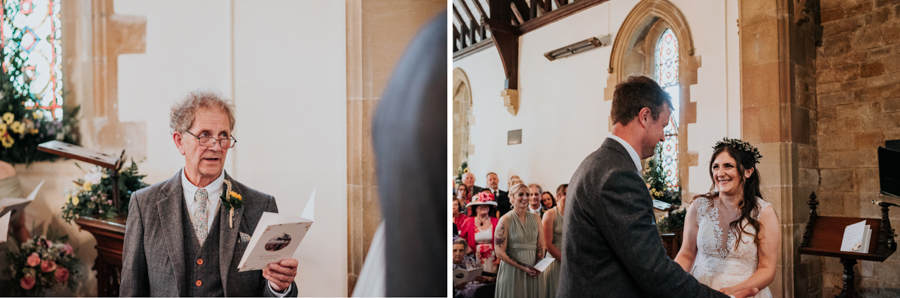 REAL WEDDING - Emily and Ashley's Rustic DIY Leicestershire Wedding, Captured by Jenny Appleton Photography - wedding vows