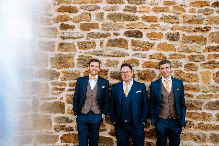 REAL WEDDING - The Simply Beautiful Spring Wedding of Hannah and Phil at Dodford Manor, Captured By GREEN UNION Partner, Ed Brown Photography - groomsmen