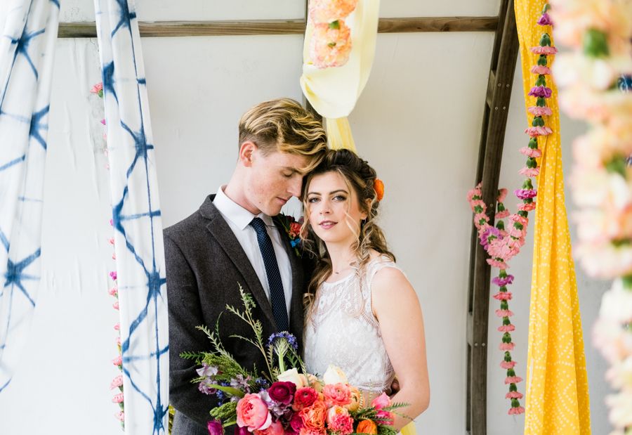 INSPIRATION - A Vibrant Ethnic-Inspired Wedding From Tide Flowers, Captured By Verity Westcott At GREEN UNION Venue Partner, Mount Pleasant Eco Park, Cornwall