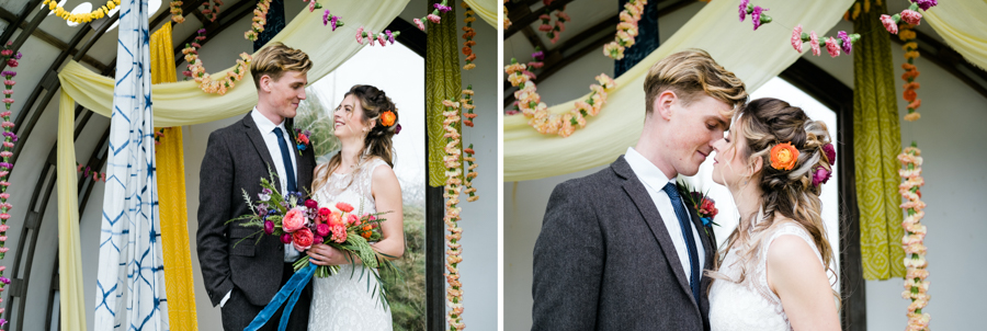 INSPIRATION - A Vibrant Ethnic-Inspired Wedding From Tide Flowers, Captured By Verity Westcott At GREEN UNION Venue Partner, Mount Pleasant Eco Park, Cornwall - marriage ceremony