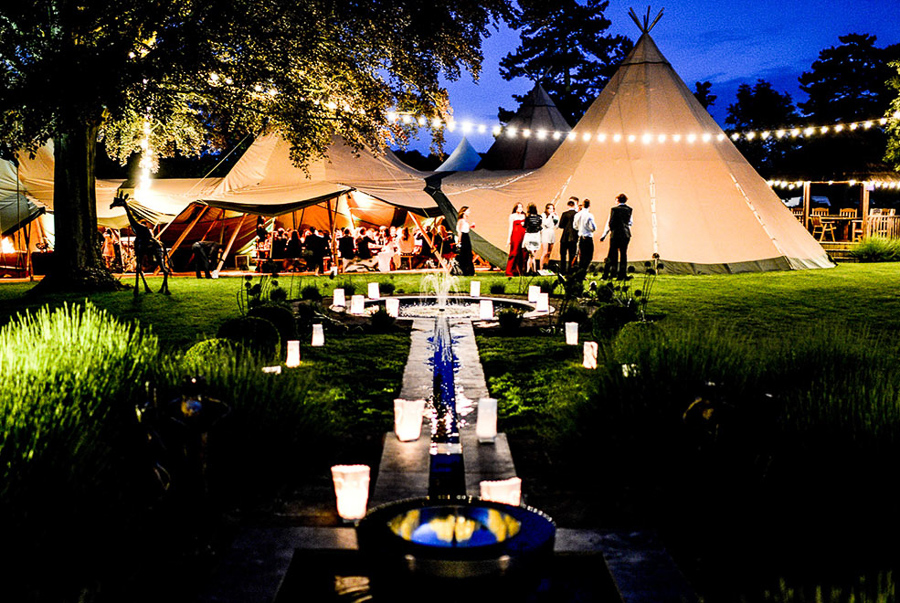 Green Union Partner Stunning Tents explain why tipis are ideal for weddings all year round