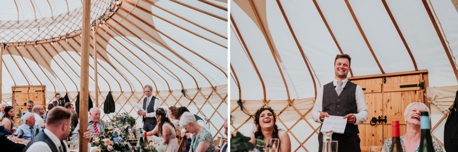 REAL WEDDING - Emily and Ashley's Rustic DIY Leicestershire Wedding, Captured by Jenny Appleton Photography - speeches