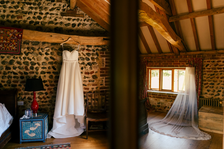 REAL WEDDING - The Eco-Conscious Woodland Wedding Of Emily And Daniel, Captured By Gina Manning Photography At Chaucer Barn, Norfolk - Wed2B dress