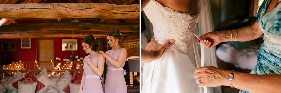 REAL WEDDING - The Eco-Conscious Woodland Wedding Of Emily And Daniel, Captured By Gina Manning Photography At Chaucer Barn, Norfolk - bridemaids