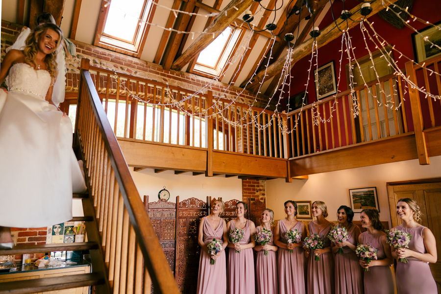 REAL WEDDING - The Eco-Conscious Woodland Wedding Of Emily And Daniel, Captured By Gina Manning Photography At Chaucer Barn, Norfolk - TFNC dresses