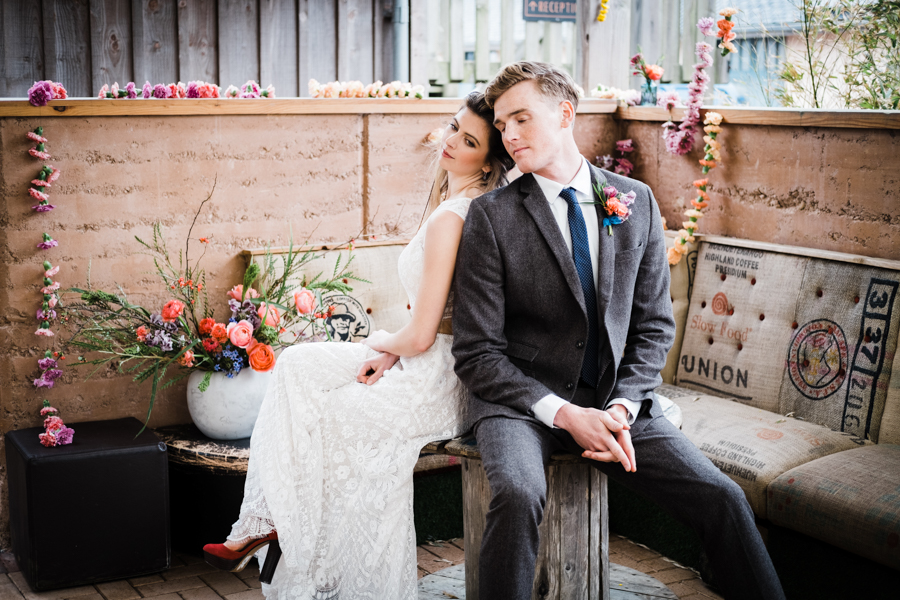 INSPIRATION - A Vibrant Ethnic-Inspired Wedding From Tide Flowers, Captured By Verity Westcott At GREEN UNION Venue Partner, Mount Pleasant Eco Park, Cornwall - reception space
