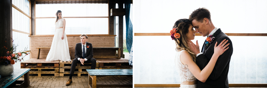 INSPIRATION - A Vibrant Ethnic-Inspired Wedding From Tide Flowers, Captured By Verity Westcott At GREEN UNION Venue Partner, Mount Pleasant Eco Park, Cornwall - portraits