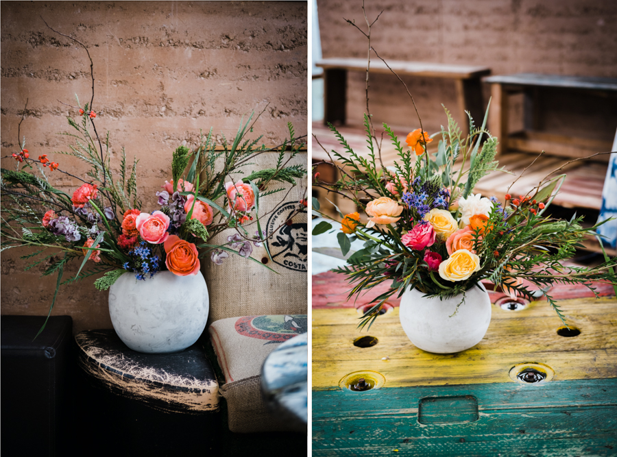 INSPIRATION - A Vibrant Ethnic-Inspired Wedding From Tide Flowers, Captured By Verity Westcott At GREEN UNION Venue Partner, Mount Pleasant Eco Park, Cornwall - reception flowers