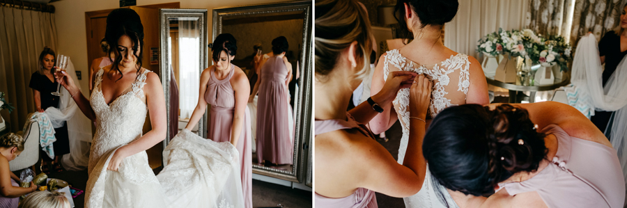 Bridal Gown Details, Mythe Barn Wedding, Ed Brown Photography