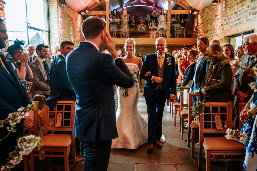 REAL WEDDING - The Simply Beautiful Spring Wedding of Hannah and Phil at Dodford Manor, Captured By GREEN UNION Partner, Ed Brown Photography - aisle