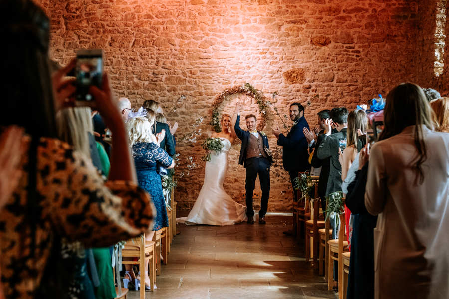 REAL WEDDING - The Simply Beautiful Spring Wedding of Hannah and Phil at Dodford Manor, Captured By GREEN UNION Partner, Ed Brown Photography - just married