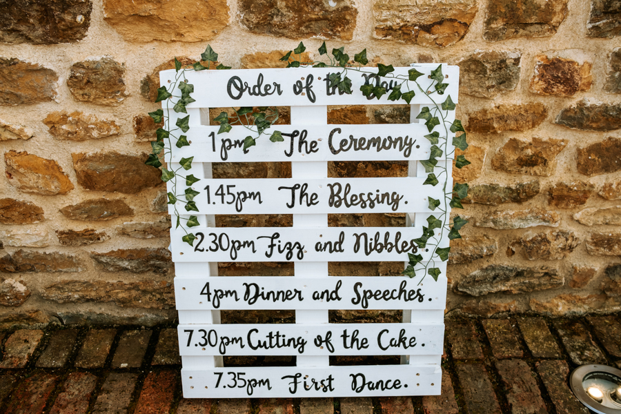 REAL WEDDING - The Simply Beautiful Spring Wedding of Hannah and Phil at Dodford Manor, Captured By GREEN UNION Partner, Ed Brown Photography - DIY signage