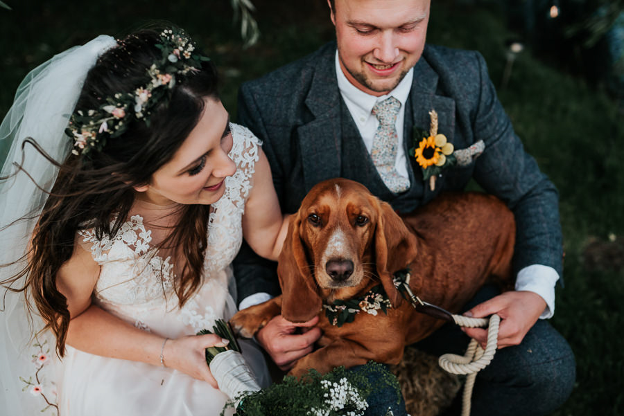 REAL WEDDING - Emily and Ashley's Rustic DIY Leicestershire Wedding, Captured by Jenny Appleton Photography - dogs at weddings
