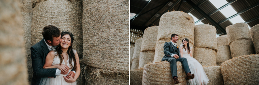 REAL WEDDING - Emily and Ashley's Rustic DIY Leicestershire Wedding, Captured by Jenny Appleton Photography - hay bales