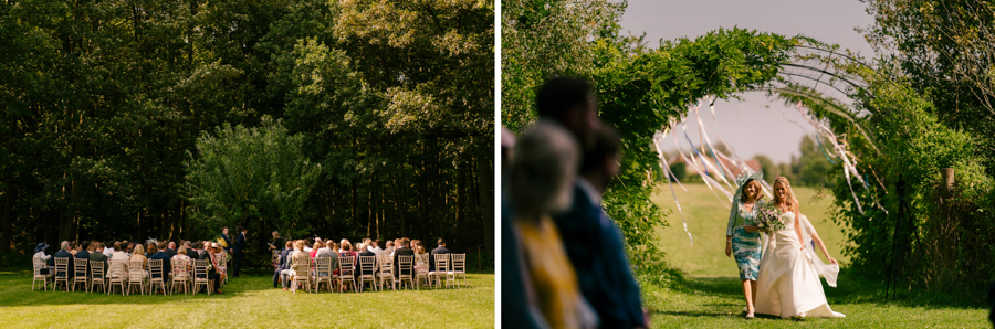 REAL WEDDING - The Eco-Conscious Woodland Wedding Of Emily And Daniel, Captured By Gina Manning Photography At Chaucer Barn, Norfolk - woodland wedding ceremony