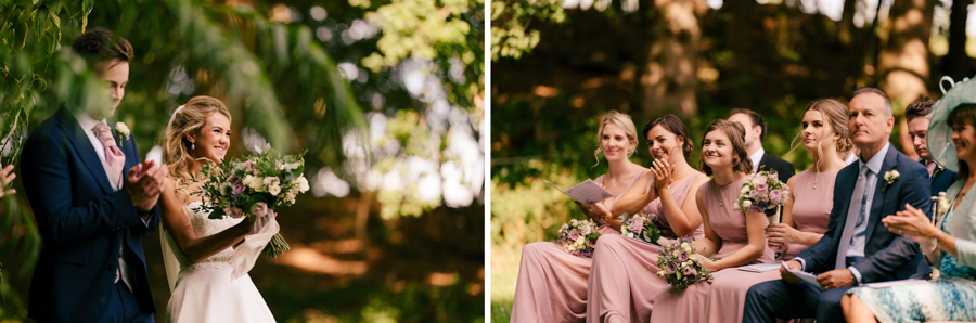 REAL WEDDING - The Eco-Conscious Woodland Wedding Of Emily And Daniel, Captured By Gina Manning Photography At Chaucer Barn, Norfolk - wedding ceremony