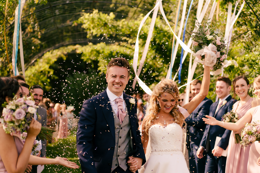 REAL WEDDING - The Eco-Conscious Woodland Wedding Of Emily And Daniel, Captured By Gina Manning Photography At Chaucer Barn, Norfolk - Shropshire Petals confetti