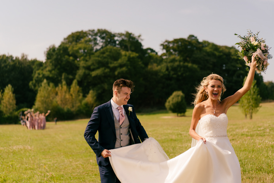 REAL WEDDING - The Eco-Conscious Woodland Wedding Of Emily And Daniel, Captured By Gina Manning Photography At Chaucer Barn, Norfolk - just married