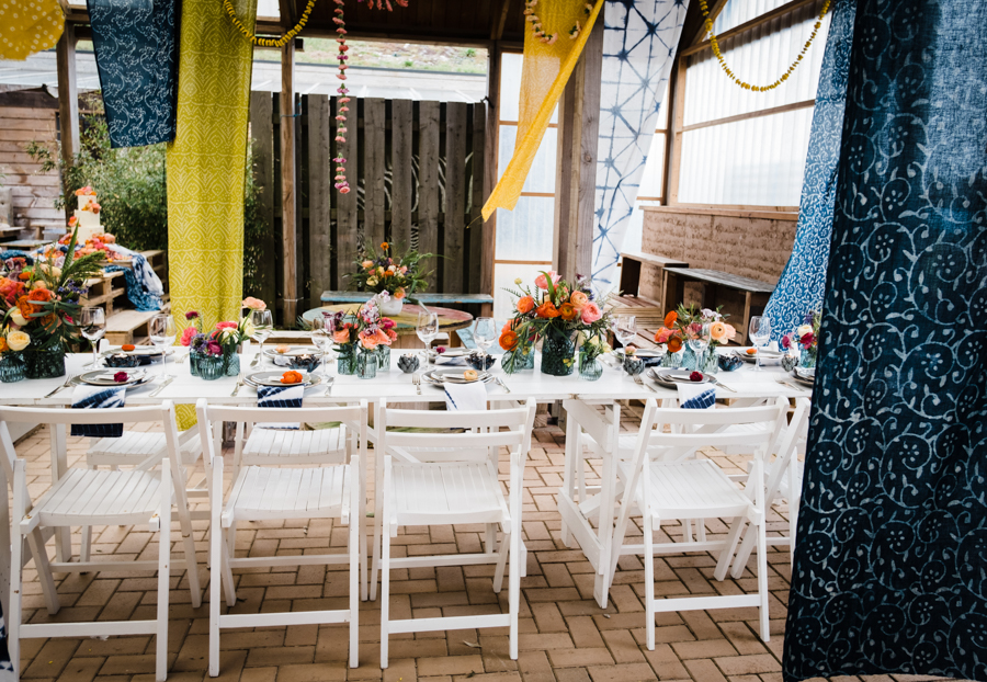 INSPIRATION - A Vibrant Ethnic-Inspired Wedding From Tide Flowers, Captured By Verity Westcott At GREEN UNION Venue Partner, Mount Pleasant Eco Park, Cornwall - Stargazey Hire