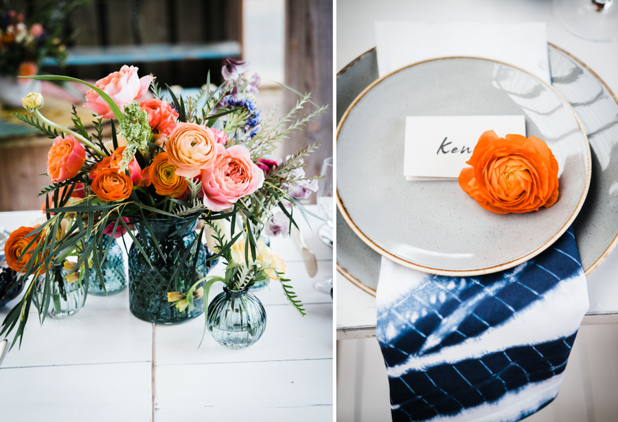 INSPIRATION - A Vibrant Ethnic-Inspired Wedding From Tide Flowers, Captured By Verity Westcott At GREEN UNION Venue Partner, Mount Pleasant Eco Park, Cornwall - Abbotts Event Hire