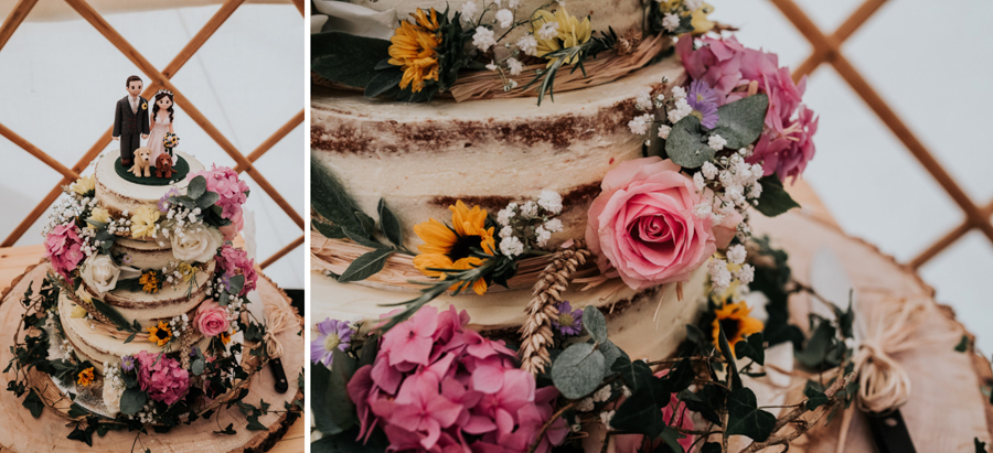 REAL WEDDING - Emily and Ashley's Rustic DIY Leicestershire Wedding, Captured by Jenny Appleton Photography - wedding cake