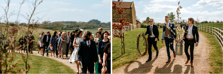 REAL WEDDING - The Simply Beautiful Spring Wedding of Hannah and Phil at Dodford Manor, Captured By GREEN UNION Partner, Ed Brown Photography - guests
