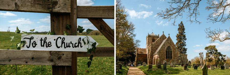 REAL WEDDING - The Simply Beautiful Spring Wedding of Hannah and Phil at Dodford Manor, Captured By GREEN UNION Partner, Ed Brown Photography - church