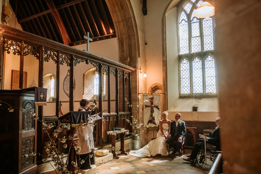 REAL WEDDING - The Simply Beautiful Spring Wedding of Hannah and Phil at Dodford Manor, Captured By GREEN UNION Partner, Ed Brown Photography - church blessing