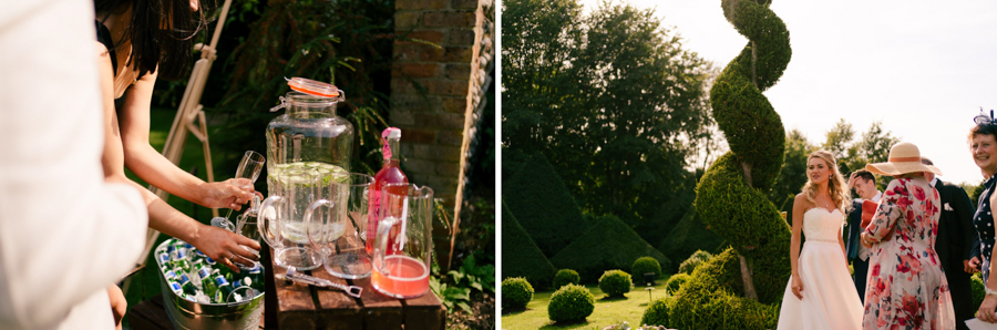 REAL WEDDING - The Eco-Conscious Woodland Wedding Of Emily And Daniel, Captured By Gina Manning Photography At Chaucer Barn, Norfolk - drinks reception