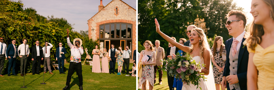 REAL WEDDING - The Eco-Conscious Woodland Wedding Of Emily And Daniel, Captured By Gina Manning Photography At Chaucer Barn, Norfolk - steel drum entertainment