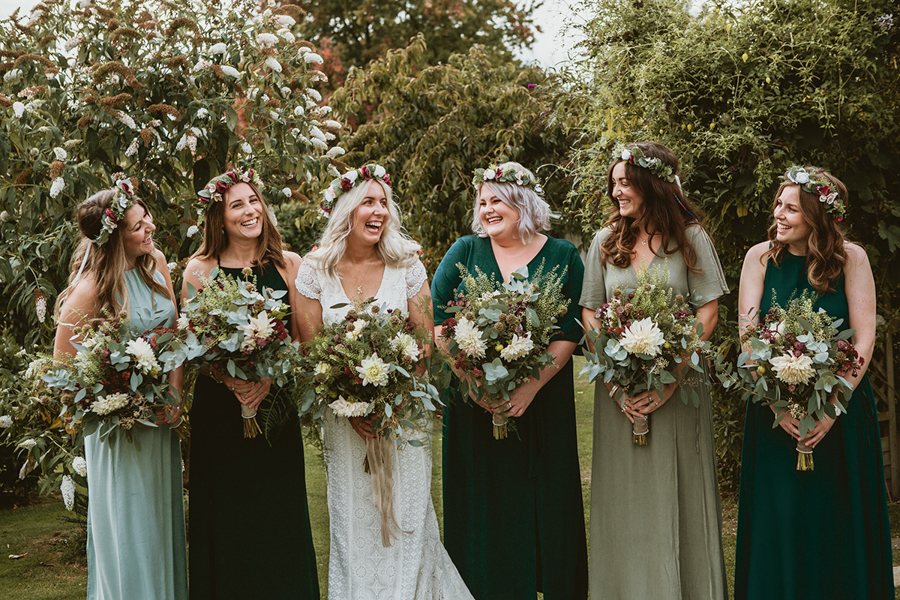 Real Wedding - the Bride and Bridesmaids Captured by GREEN UNION Partner Benni Carol At The Remenham Club - Daughters of Simone