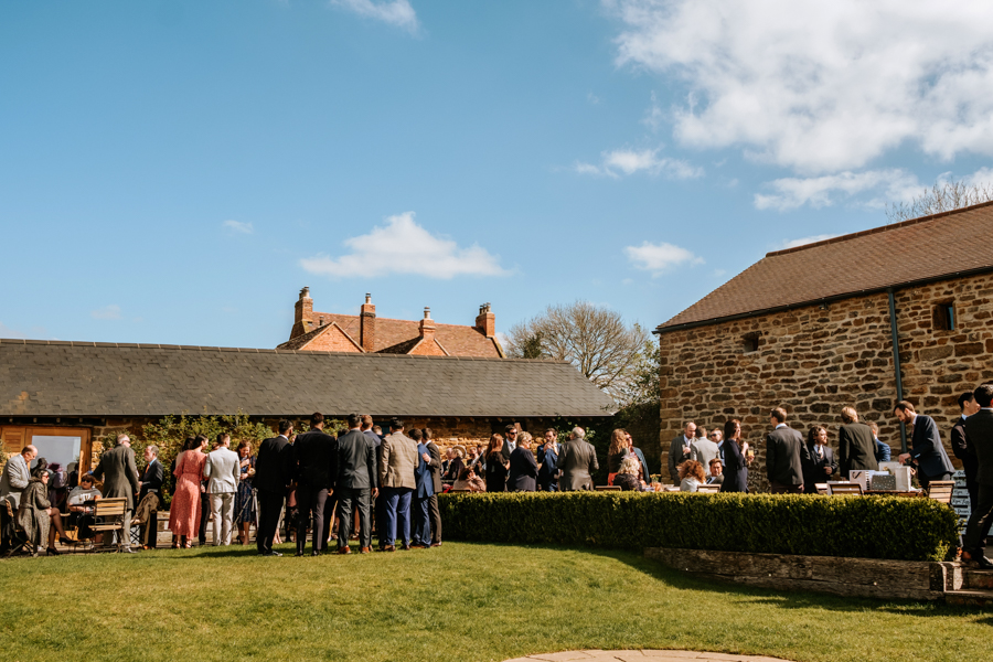 REAL WEDDING - The Simply Beautiful Spring Wedding of Hannah and Phil at Dodford Manor, Captured By GREEN UNION Partner, Ed Brown Photography - drinks reception