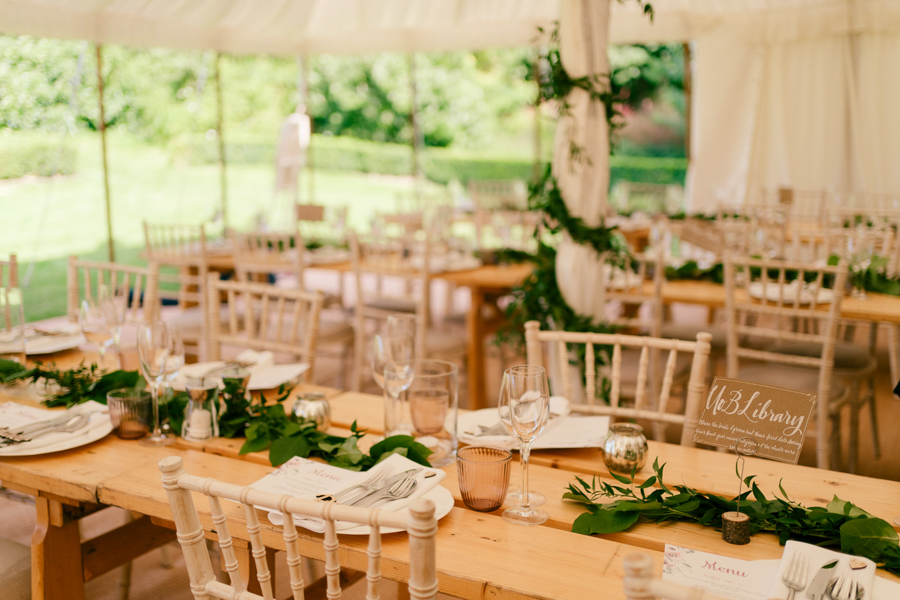 REAL WEDDING - The Eco-Conscious Woodland Wedding Of Emily And Daniel, Captured By Gina Manning Photography At Chaucer Barn, Norfolk - marquee reception