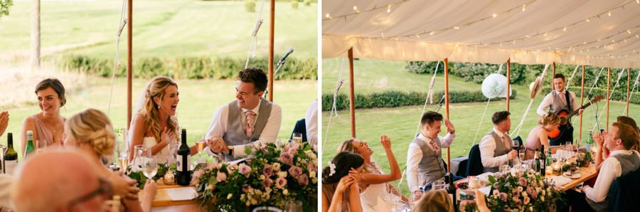 REAL WEDDING - The Eco-Conscious Woodland Wedding Of Emily And Daniel, Captured By Gina Manning Photography At Chaucer Barn, Norfolk - wedding breakfast