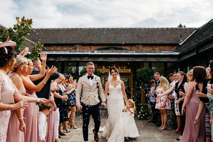 Confetti, Mythe Barn Wedding, Ed Brown Photography