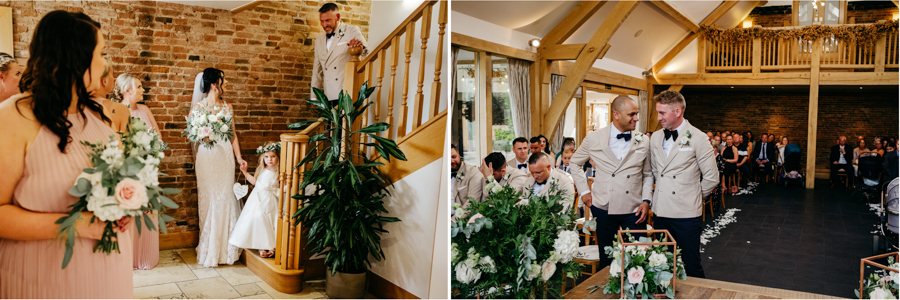Wedding Ceremony, Mythe Barn Wedding, Ed Brown Photography
