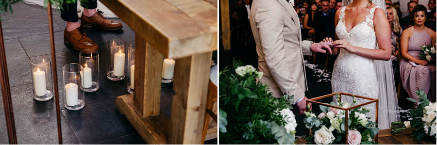 Ceremony Details, Mythe Barn Wedding, Ed Brown Photography