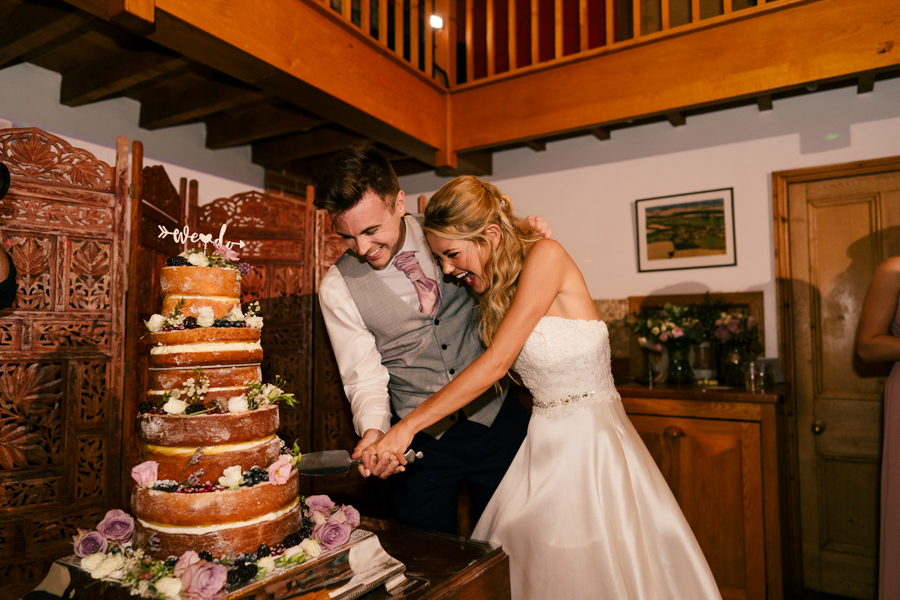 REAL WEDDING - The Eco-Conscious Woodland Wedding Of Emily And Daniel, Captured By Gina Manning Photography At Chaucer Barn, Norfolk - wedding cake