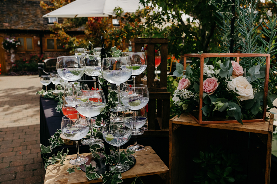Cocktail Bar, Mythe Barn Wedding, Ed Brown Photography