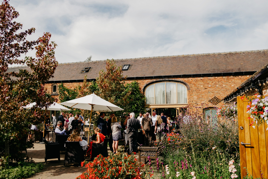 Drinks Reception, Mythe Barn Wedding, Ed Brown Photography