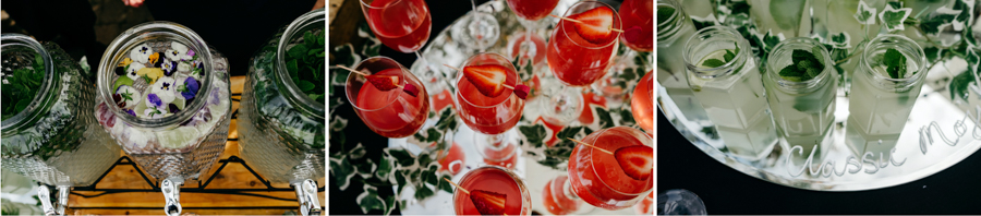 Cocktails, Mythe Barn Wedding, Ed Brown Photography