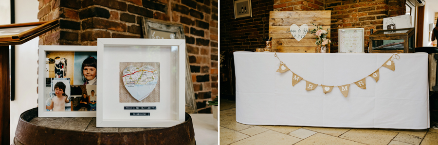 DIY Details, Mythe Barn Wedding, Ed Brown Photography