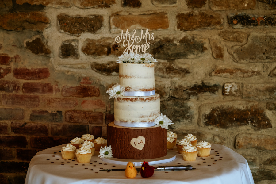 REAL WEDDING - The Simply Beautiful Spring Wedding of Hannah and Phil at Dodford Manor, Captured By GREEN UNION Partner, Ed Brown Photography - wedding cake